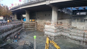 Excavation progress at the South Tower development site